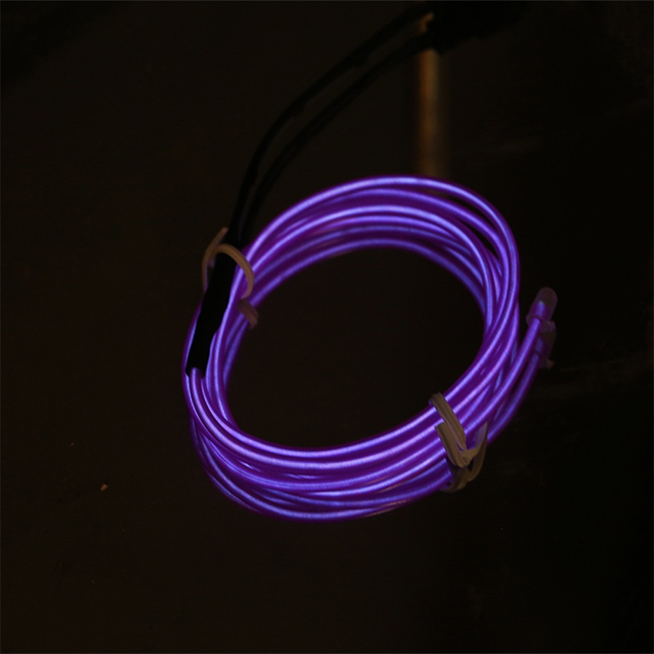 1m colorful flexible el wire tube rope neon light glow car party decor fw ebay. Black Bedroom Furniture Sets. Home Design Ideas
