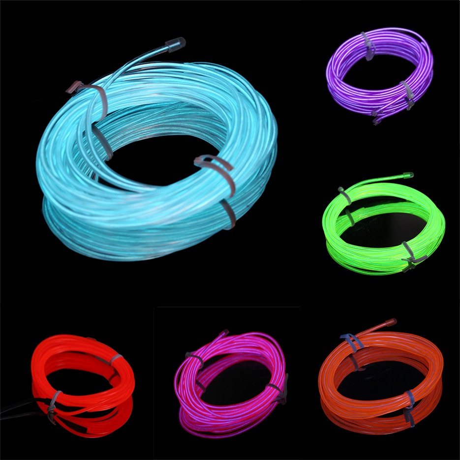 colorful 2m flexible el wire tube rope neon light dc 12v car party bar decor iy ebay. Black Bedroom Furniture Sets. Home Design Ideas