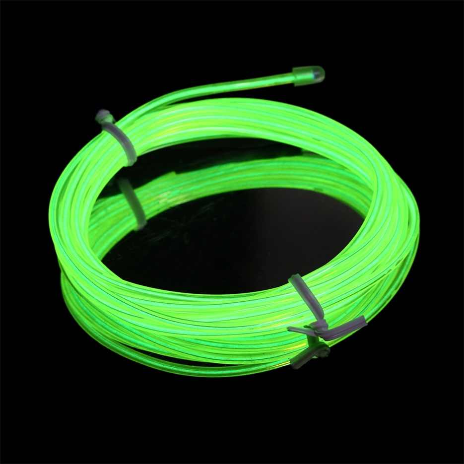 Colorful m flexible el wire tube rope neon light dc v