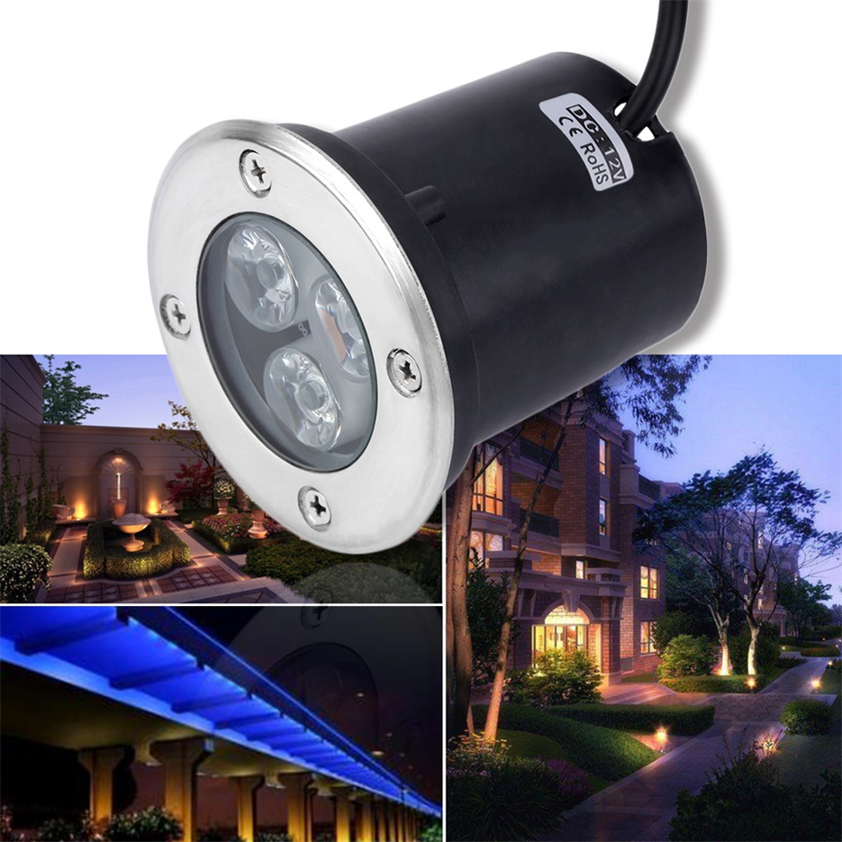 3w led waterproof outdoor in ground garden path flood for 12v garden lights
