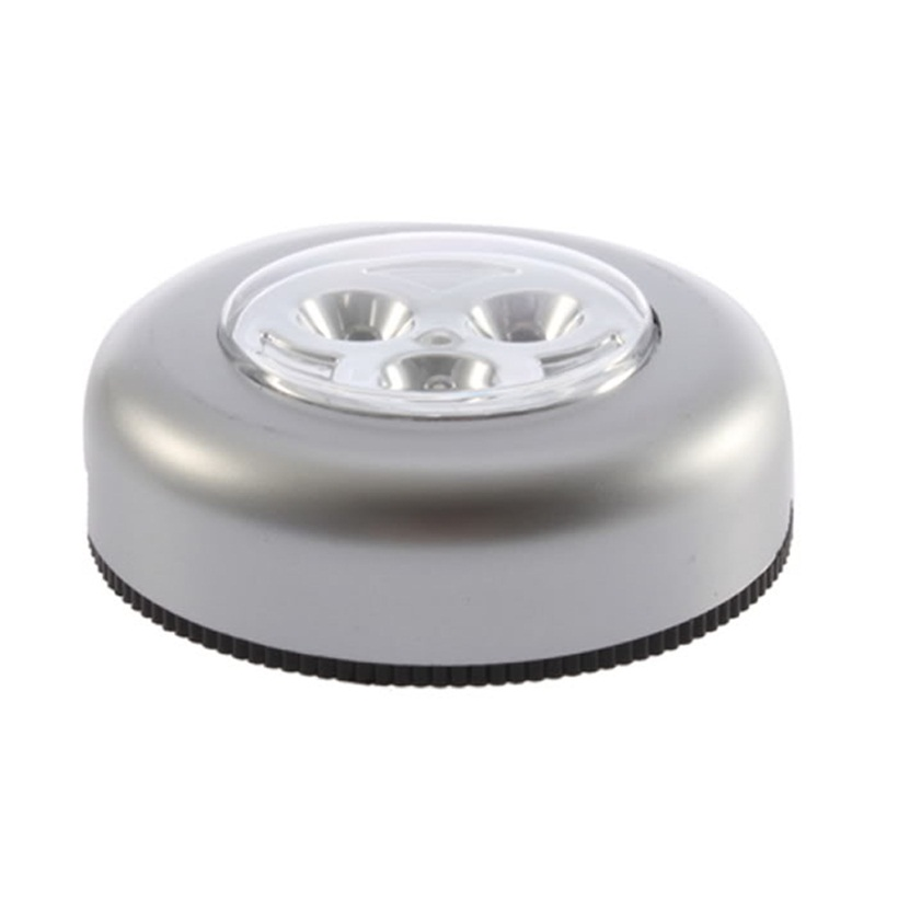 3 Led Battery Powered Stick Tap Touch Light Lamp Bedside