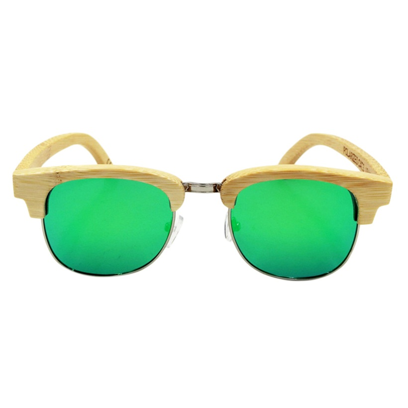 Fashion Handmade Bamboo Wood Oval Sunglasses Polarized ...