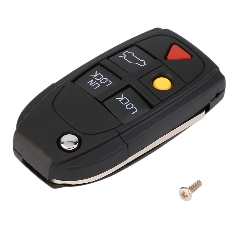 5 Button Remote Case Fob Flip Key Shell Fit For VOLVO S60
