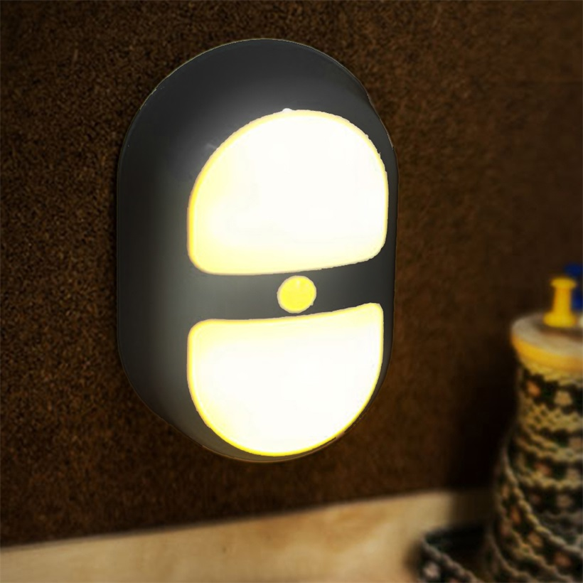 Led Peanut Night Light Human Body Induction With Plug In
