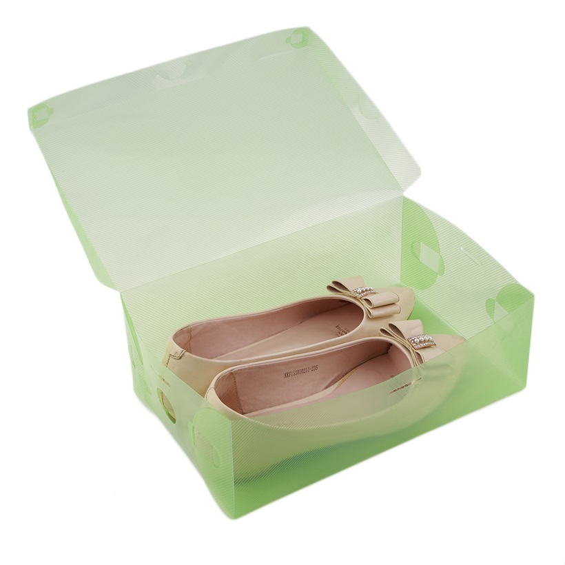 stackable storage box thick boot shoe organizer