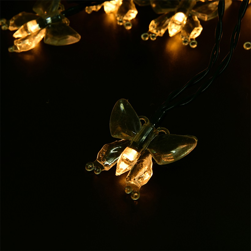 5M 20 LED Fairy Butterfly String Solar LED Lights For Wedding Party Decor QT eBay