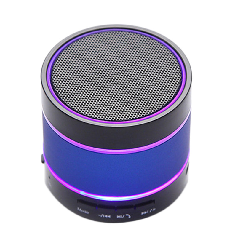 Bluetooth Wireless Mini Portable Speaker For IPhone LED Light Dancing S09 ICO