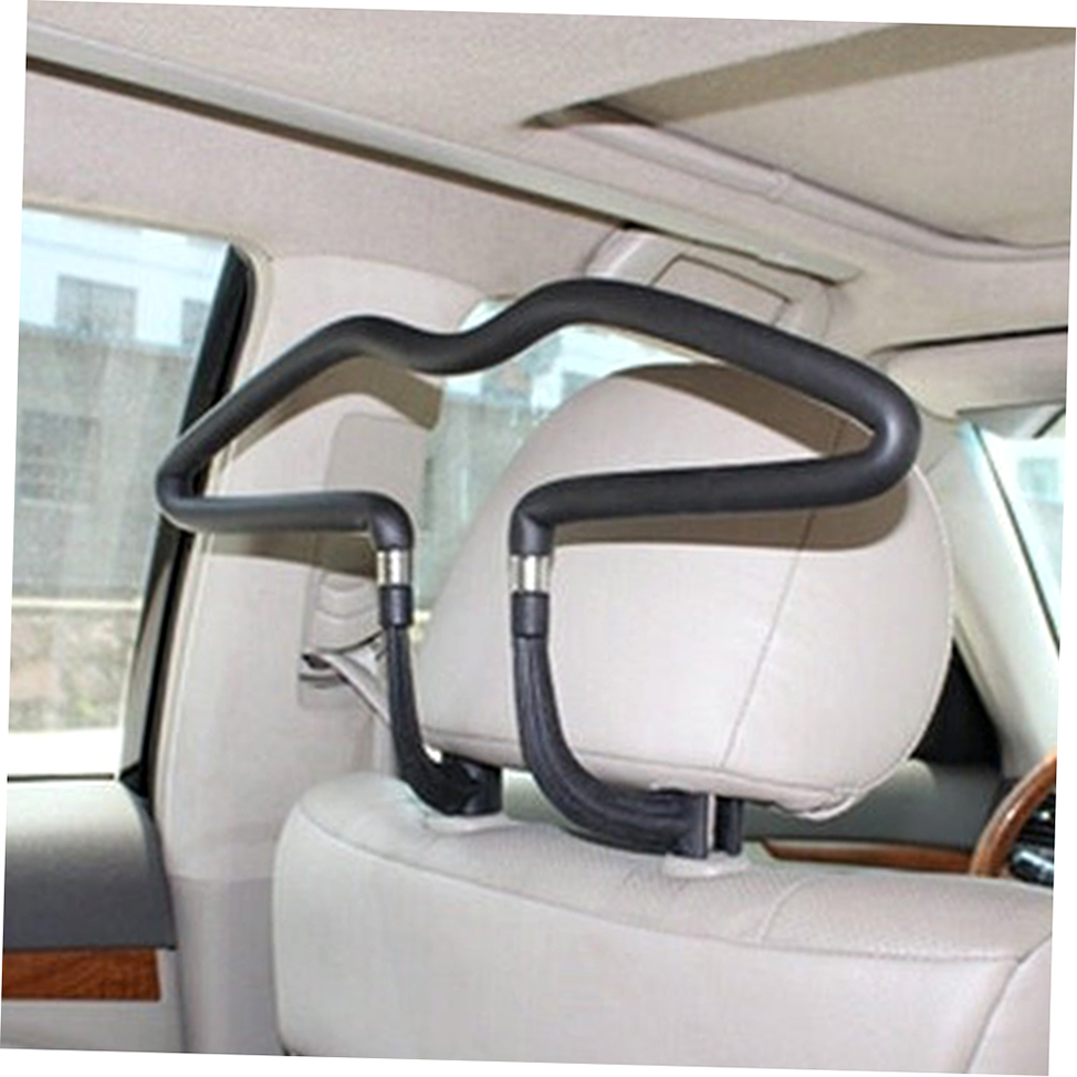 black stainless car seat headrest jacket coat suit clothes hanger holder aa ebay. Black Bedroom Furniture Sets. Home Design Ideas