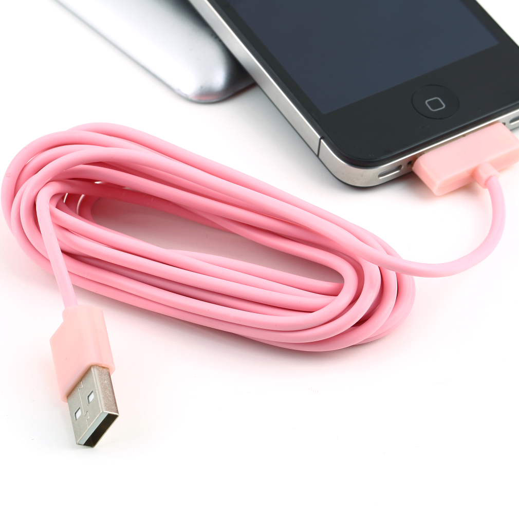 3m 10 ft usb charging charger cable cord for apple iphone 3 3gs 4 4s mi ebay. Black Bedroom Furniture Sets. Home Design Ideas