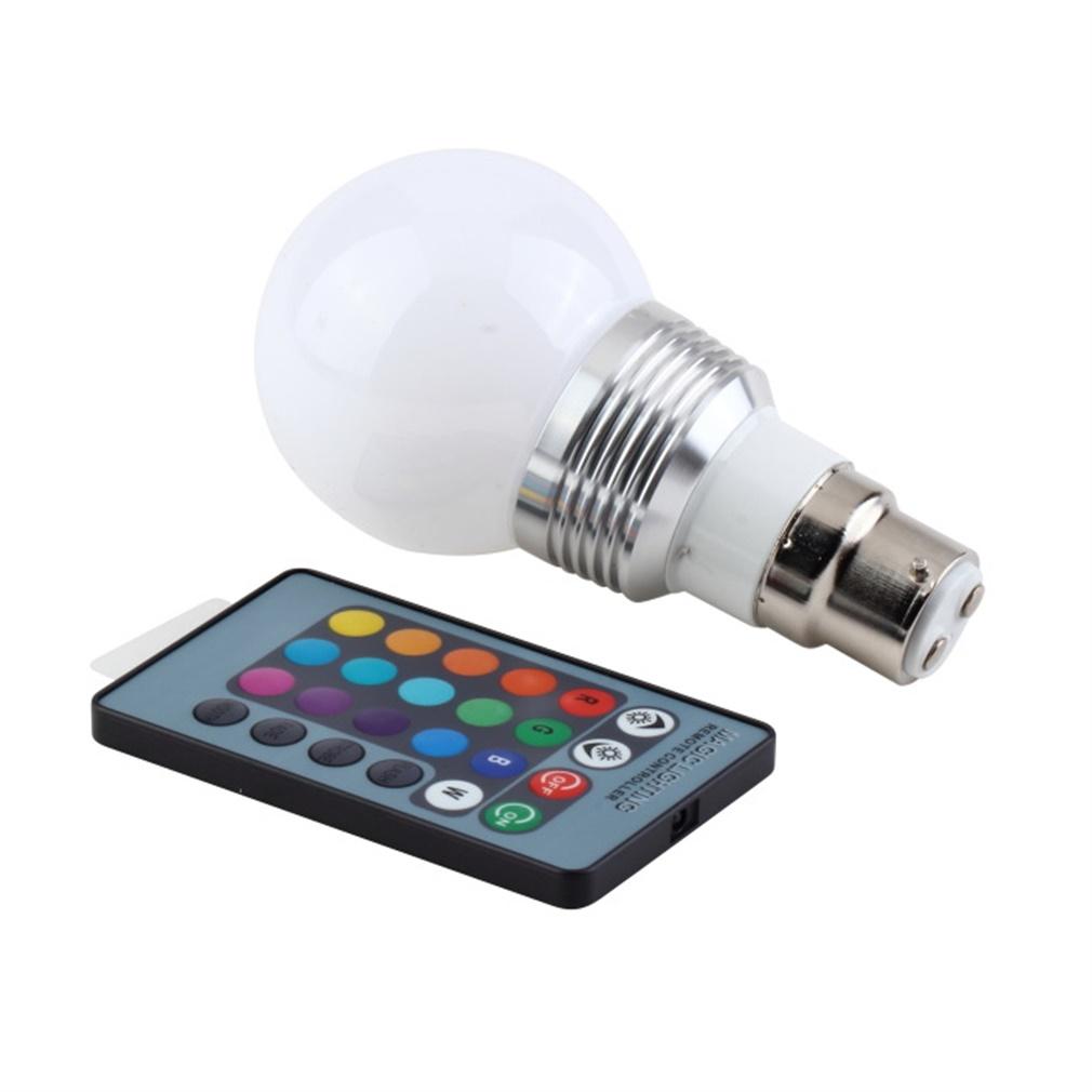 3w b22 16 colors rgb led light lamp bulb w remote control 85 240v llc005300 11street malaysia. Black Bedroom Furniture Sets. Home Design Ideas