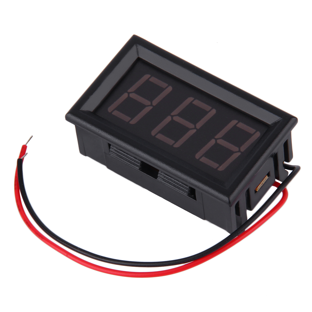 Car Battery Voltage Meter : Best v auto digital led voltmeter car voltage gauge