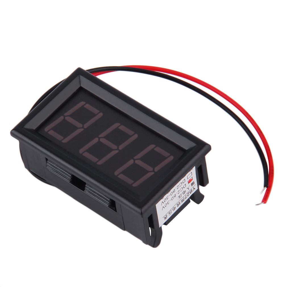 12v 24v auto digital led voltmeter car voltage gauge battery meter lot. Black Bedroom Furniture Sets. Home Design Ideas
