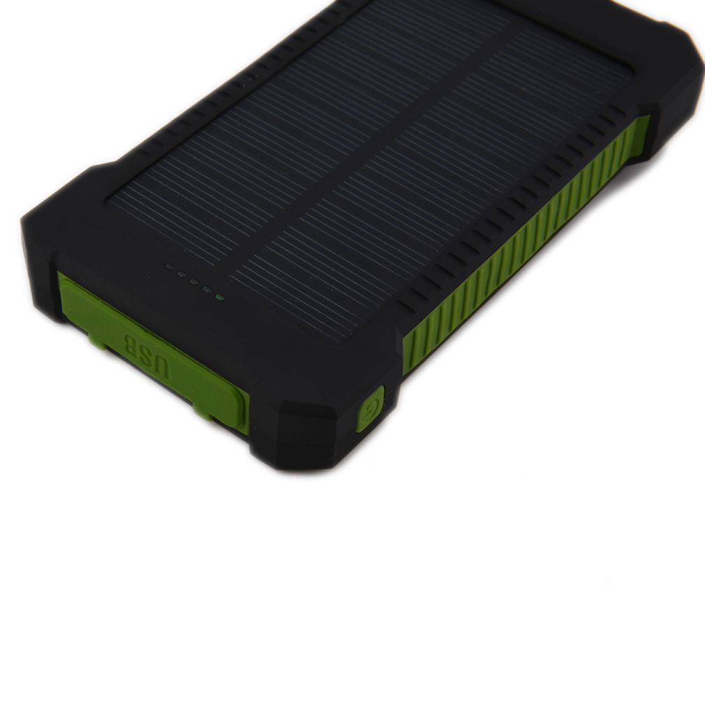 solar powerbank 10000mah wasserdicht solar ladeger t akku batterie waterproof z ebay. Black Bedroom Furniture Sets. Home Design Ideas