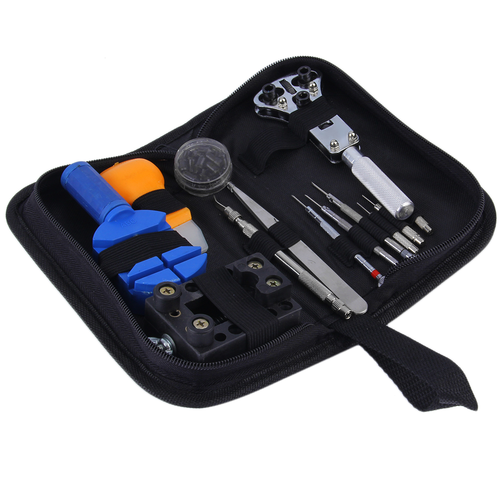 13 pieces zip case battery changing remover screwdriver kit watch repair tool hl ebay. Black Bedroom Furniture Sets. Home Design Ideas