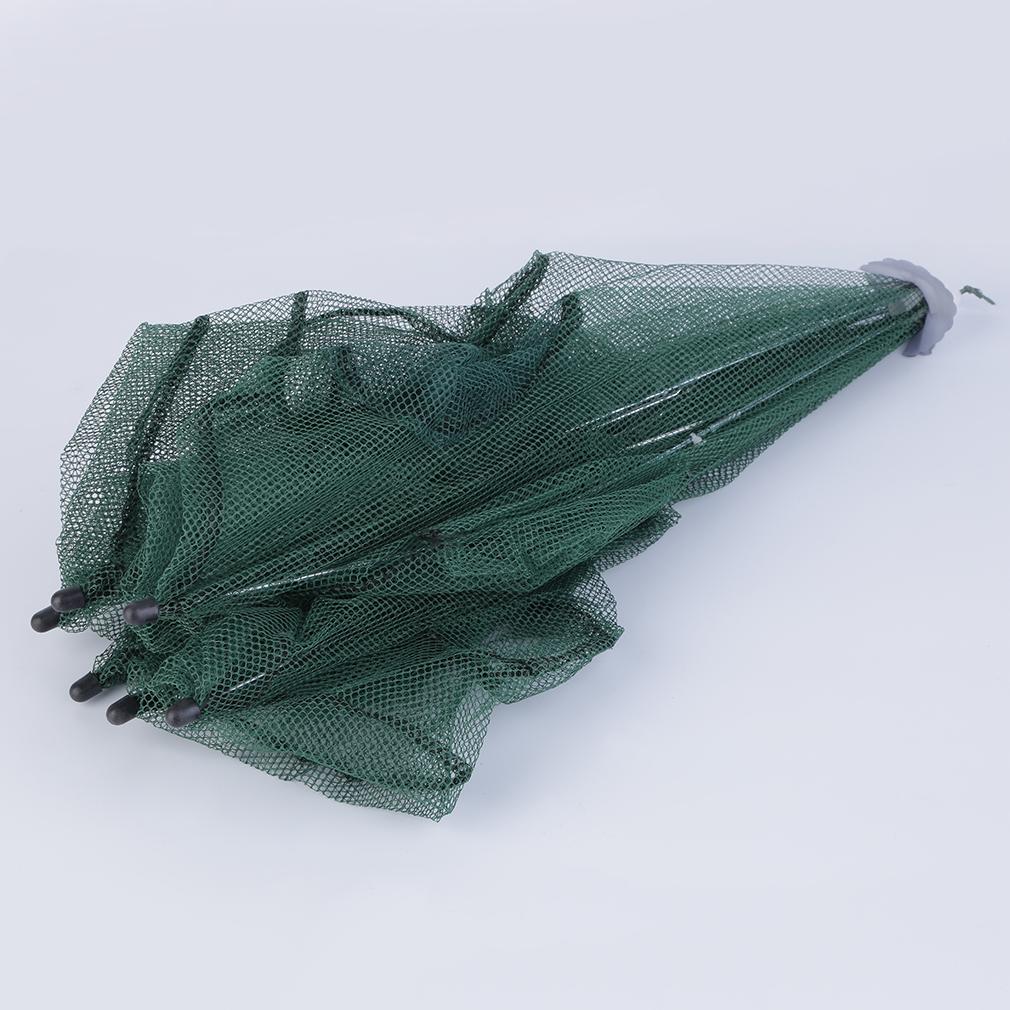 Foldable fishing bait net trap cast dip cage crab fish for Bait fish trap