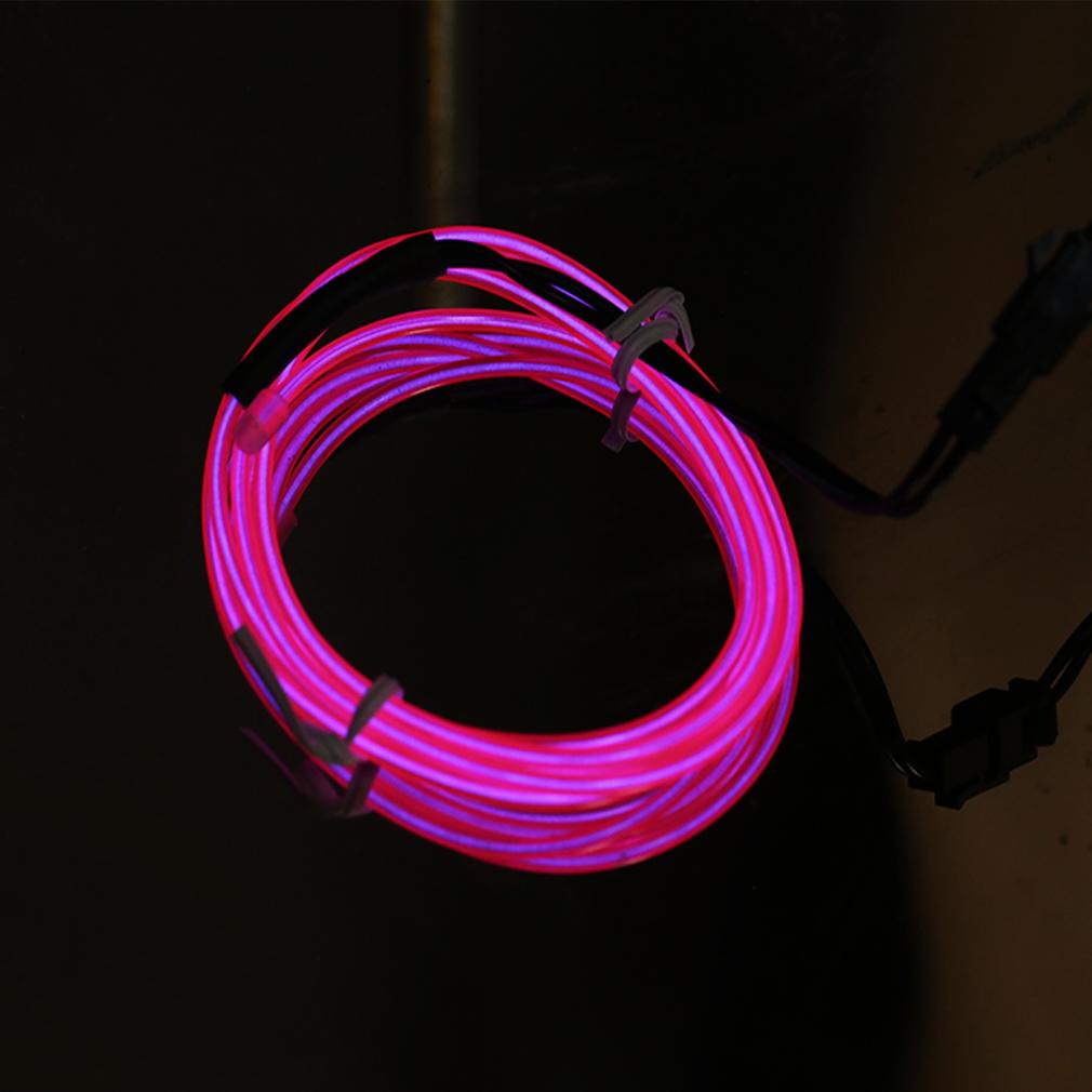 led light glow el wire string strip rope tube car dance party dc12v orcontroller. Black Bedroom Furniture Sets. Home Design Ideas