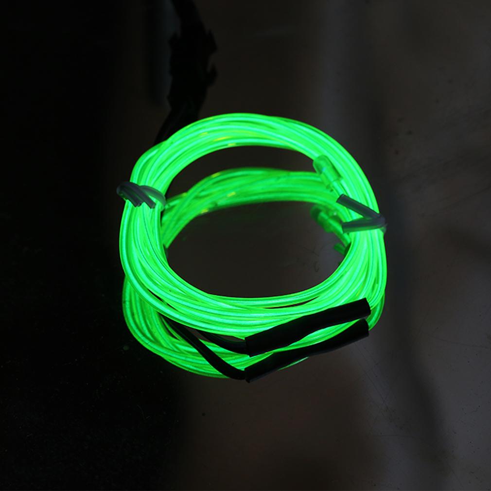 1 4 5m led 12v neon light glow el wire rope tube car. Black Bedroom Furniture Sets. Home Design Ideas