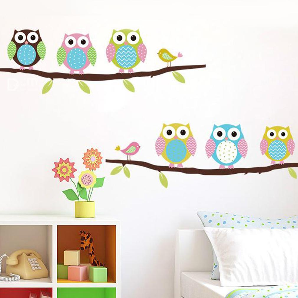 Cute Cartoon Owl Wall Sticker Baby Room Nursery Kids Decor
