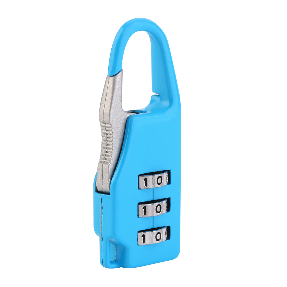 allwin security 3 combination travel suitcase luggage bag code lock zipper pa. Black Bedroom Furniture Sets. Home Design Ideas