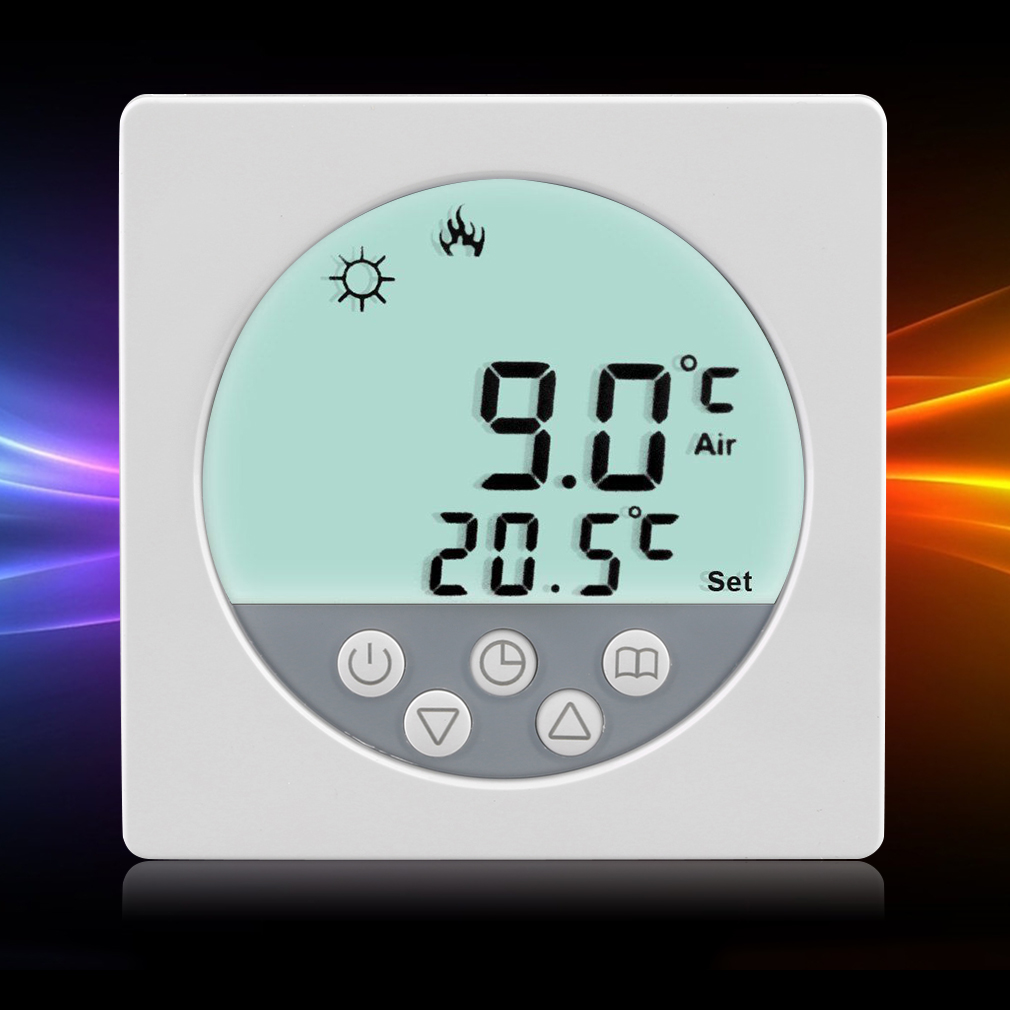 digital raumthermostat lcd touchscreen thermostat fu bodenheizung digitaler ebay. Black Bedroom Furniture Sets. Home Design Ideas