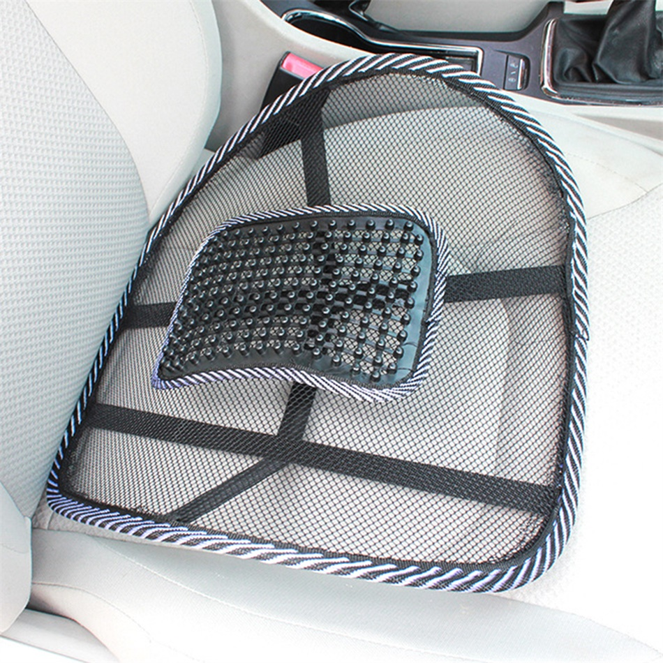 Chair massage back lumbar support mesh ventilate cushion pad car office seat ds