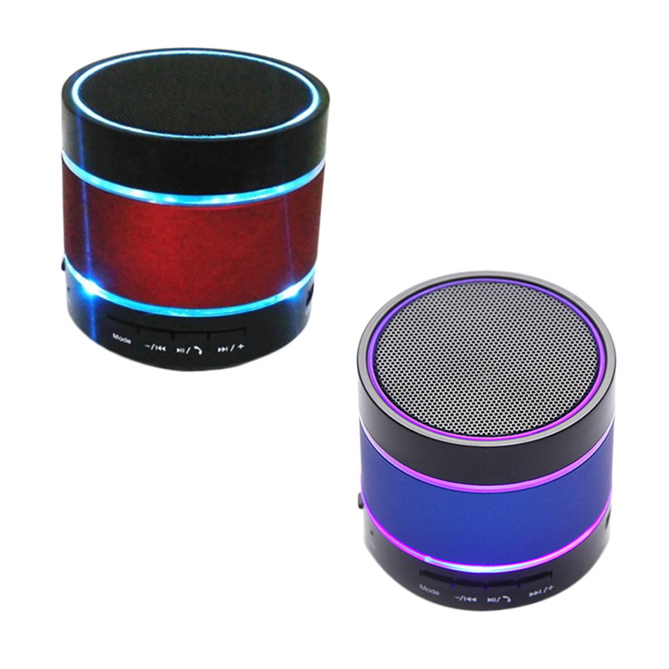 Bluetooth Wireless Mini Portable Speaker For IPhone LED Light Dancing S09 KE