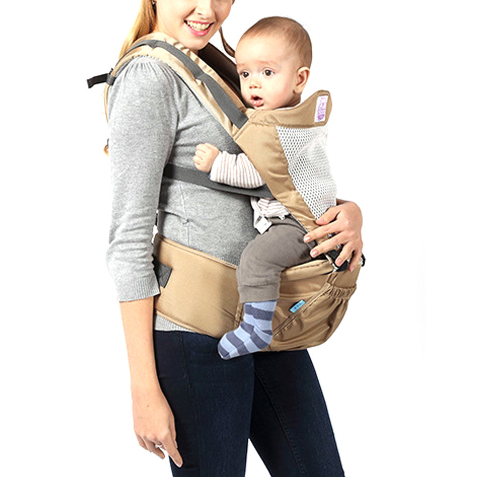 Breathable Infant Baby Carrier Wrap Sling Suspenders Waist