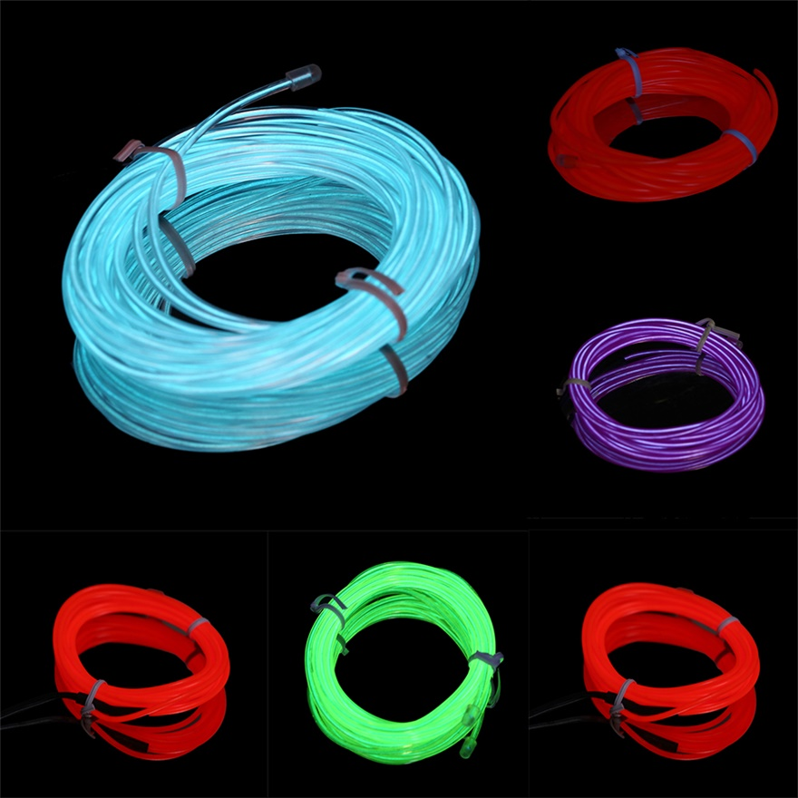 Colorful 4m Flexible EL Wire Tube Rope Neon Light DC 12V