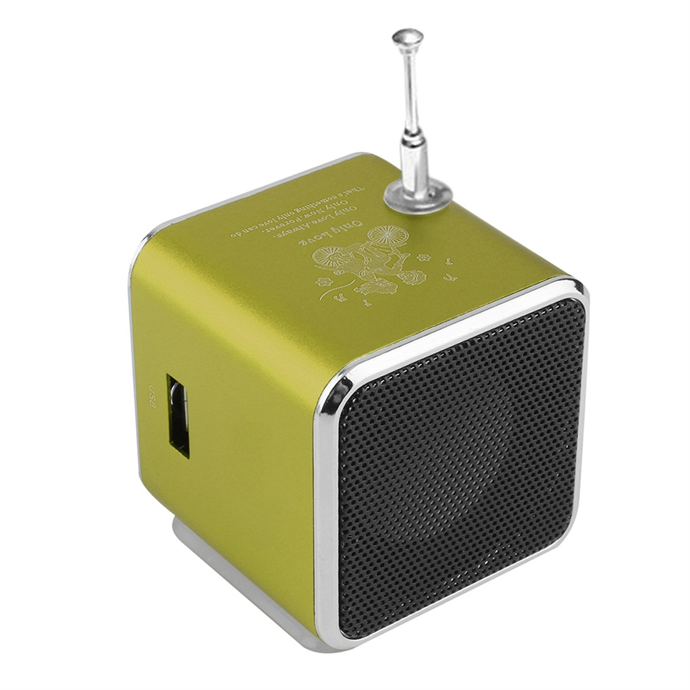 portable micro usb mini stereo super bass speaker music mp3 4 fm radio f5 ebay. Black Bedroom Furniture Sets. Home Design Ideas