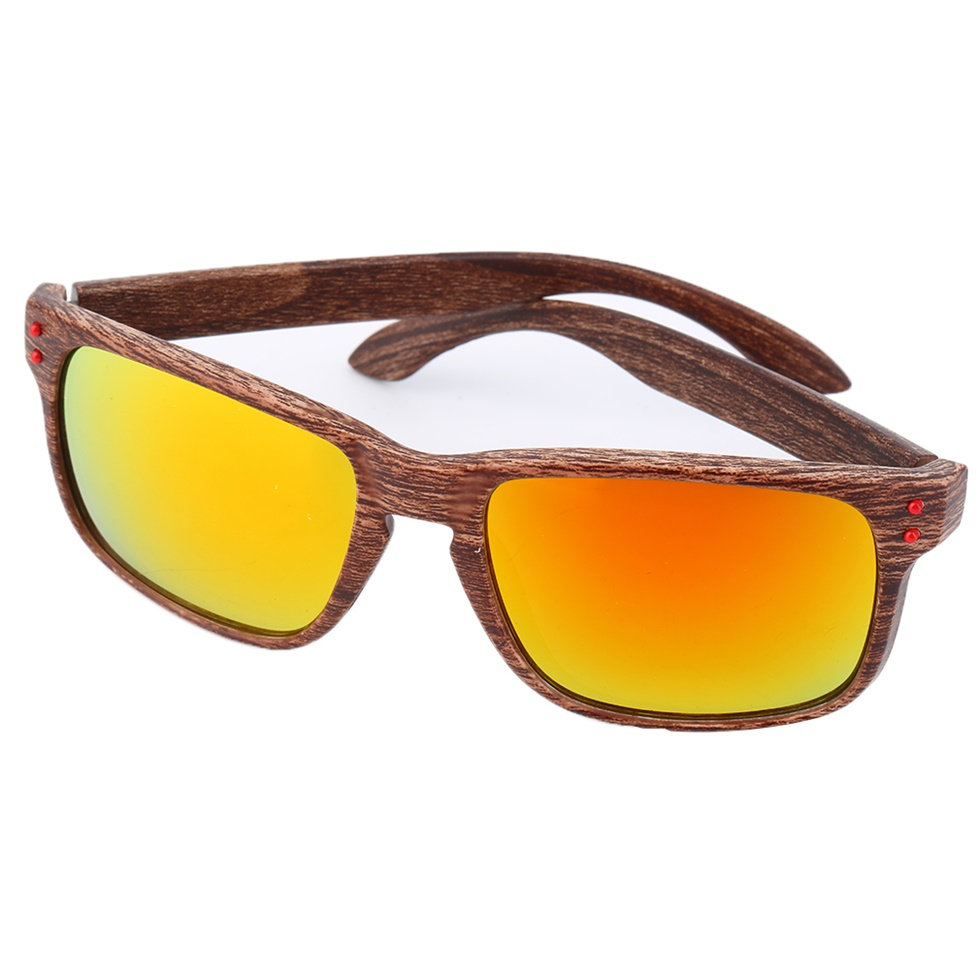 mens fashion sports sunglasses wooden square frame shades