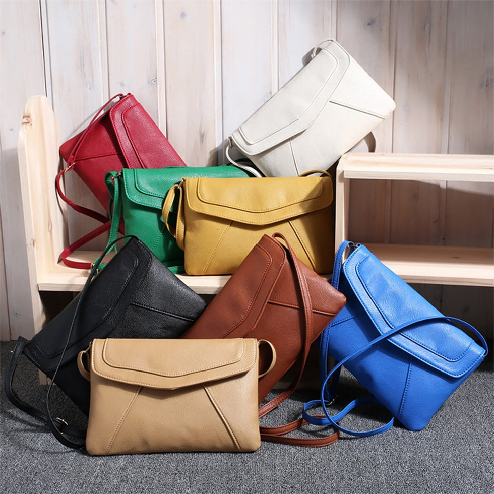 PU Leather Women Messenger Bag Small Diagonal All Match Single ...