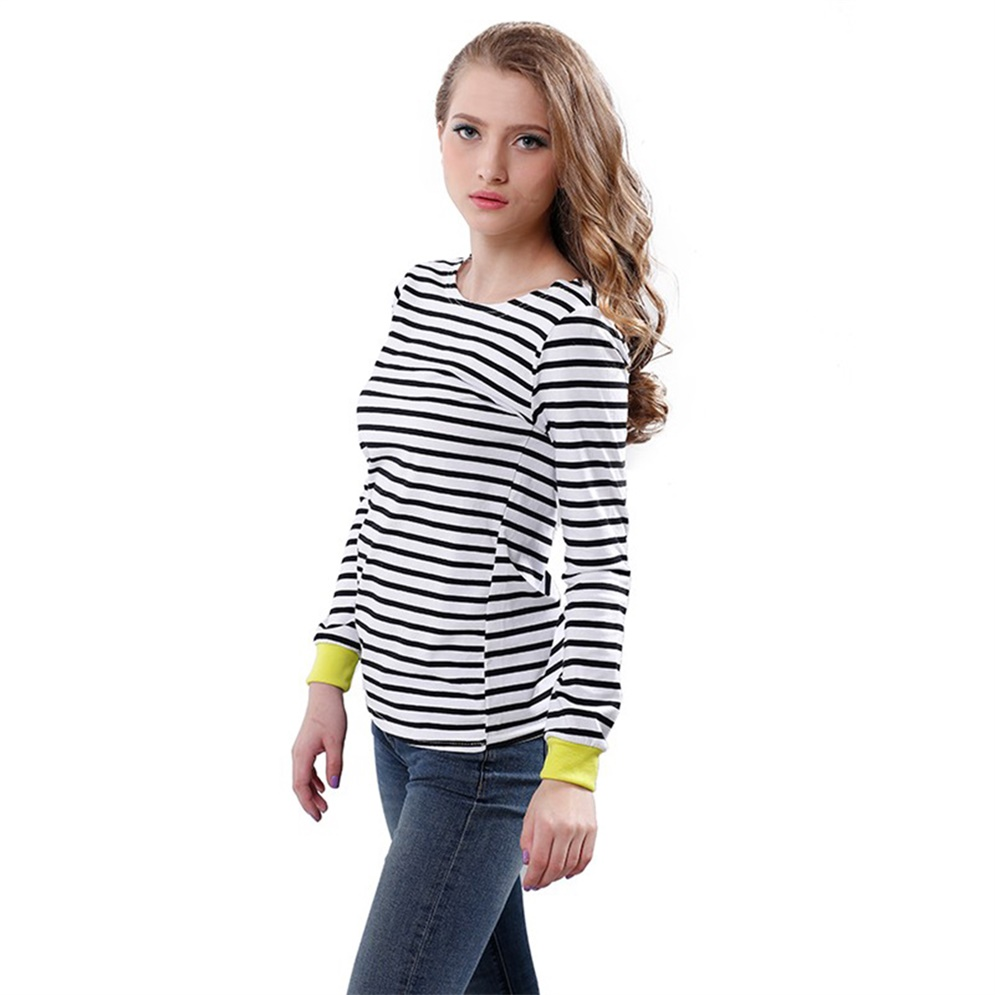 Cosabella Moonlight Striped Long-Sleeve Top Details Cosabella