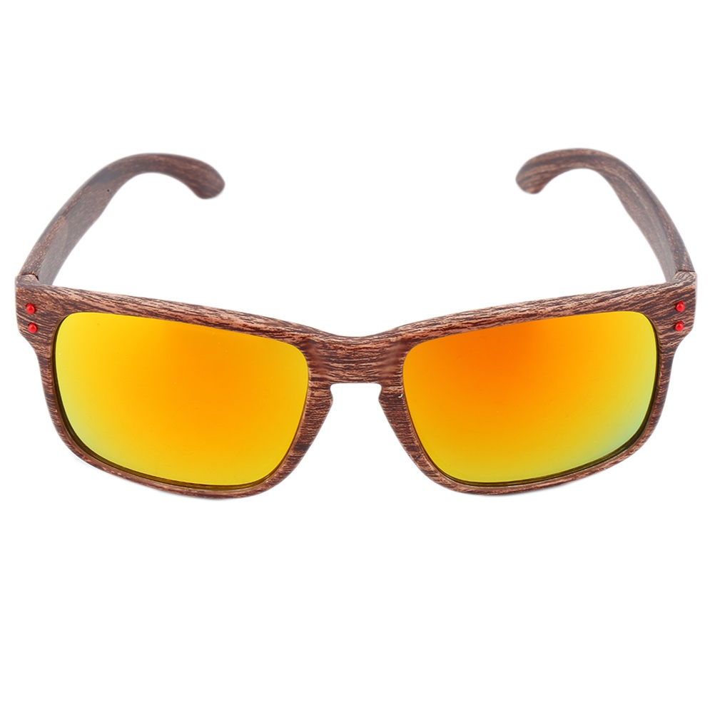 Wooden Framed Fashion Glasses : Men Fashion Sports Sunglasses Wooden Square Frame Shades ...