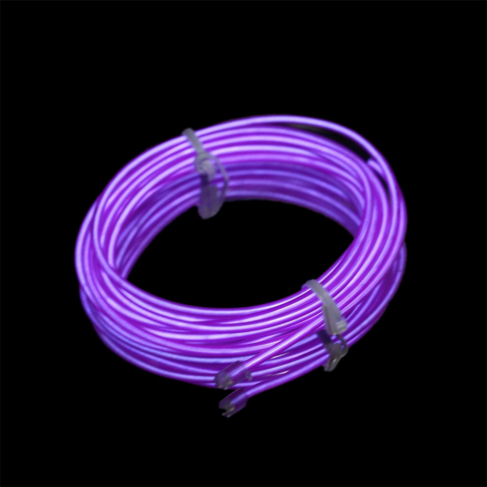 colorful 2m flexible el wire tube rope neon light dc 12v car party bar decor sy ebay. Black Bedroom Furniture Sets. Home Design Ideas