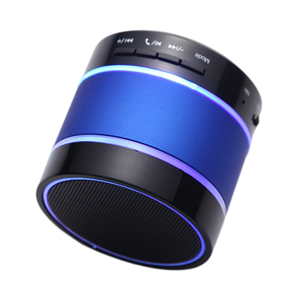 Bluetooth Wireless Mini Portable Speaker For IPhone LED Light Dancing S09 LO