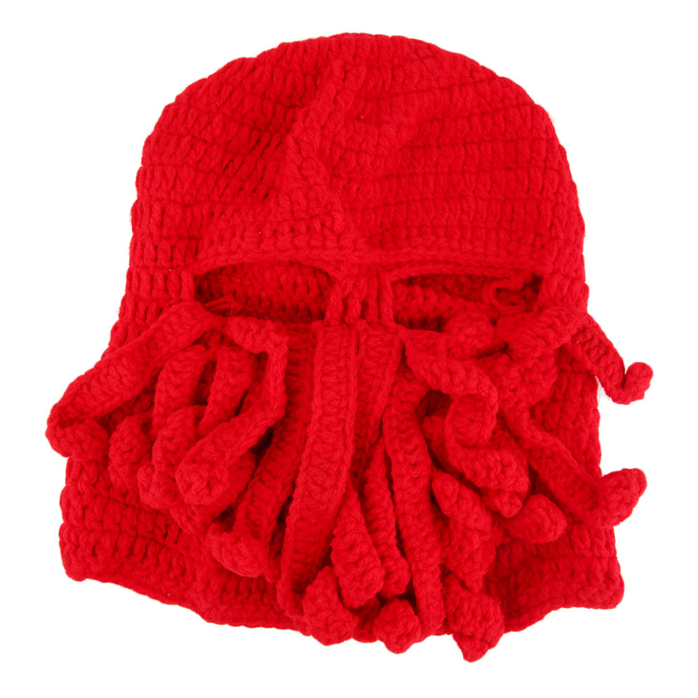 Knitting Funny Hats : Creative hand made knitting wool funny animal hats beard