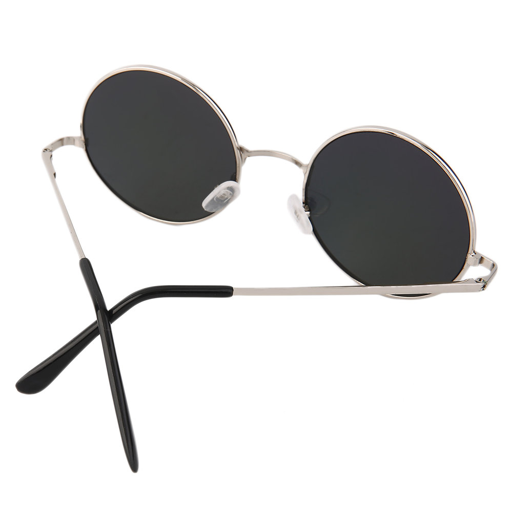 Eyewear Retro Round Sunglasses Reflective Small Round ...