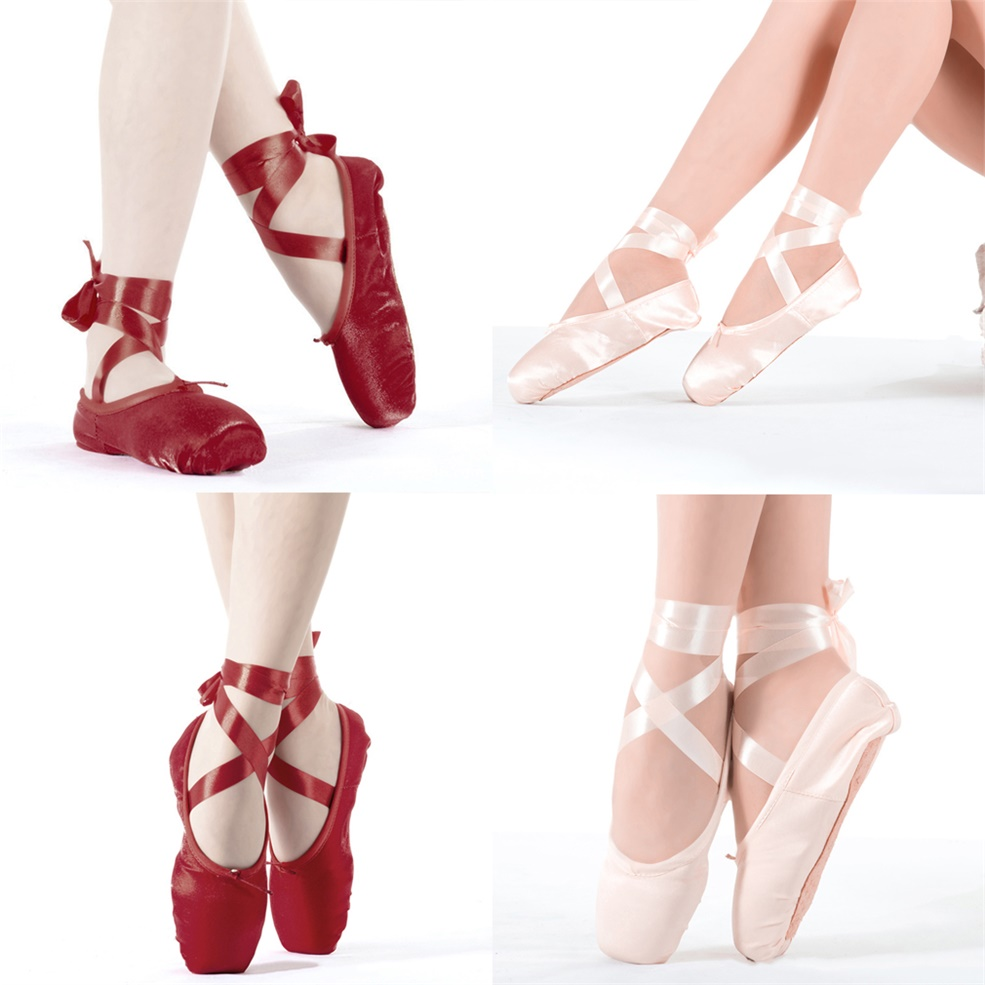how to put on pointe shoes ribbons