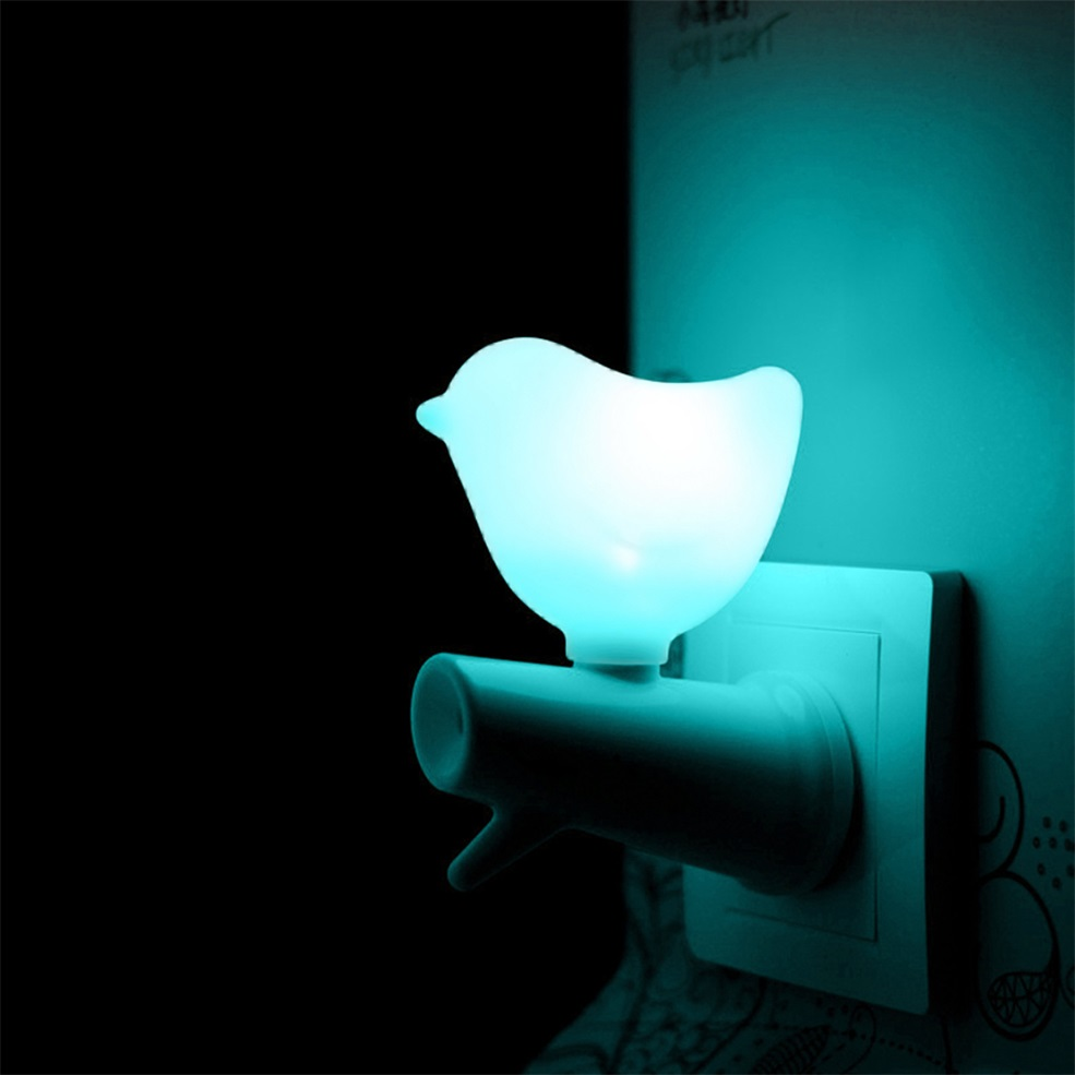 Wall Mounted White Bird Kids Night Light Sensor Led Night