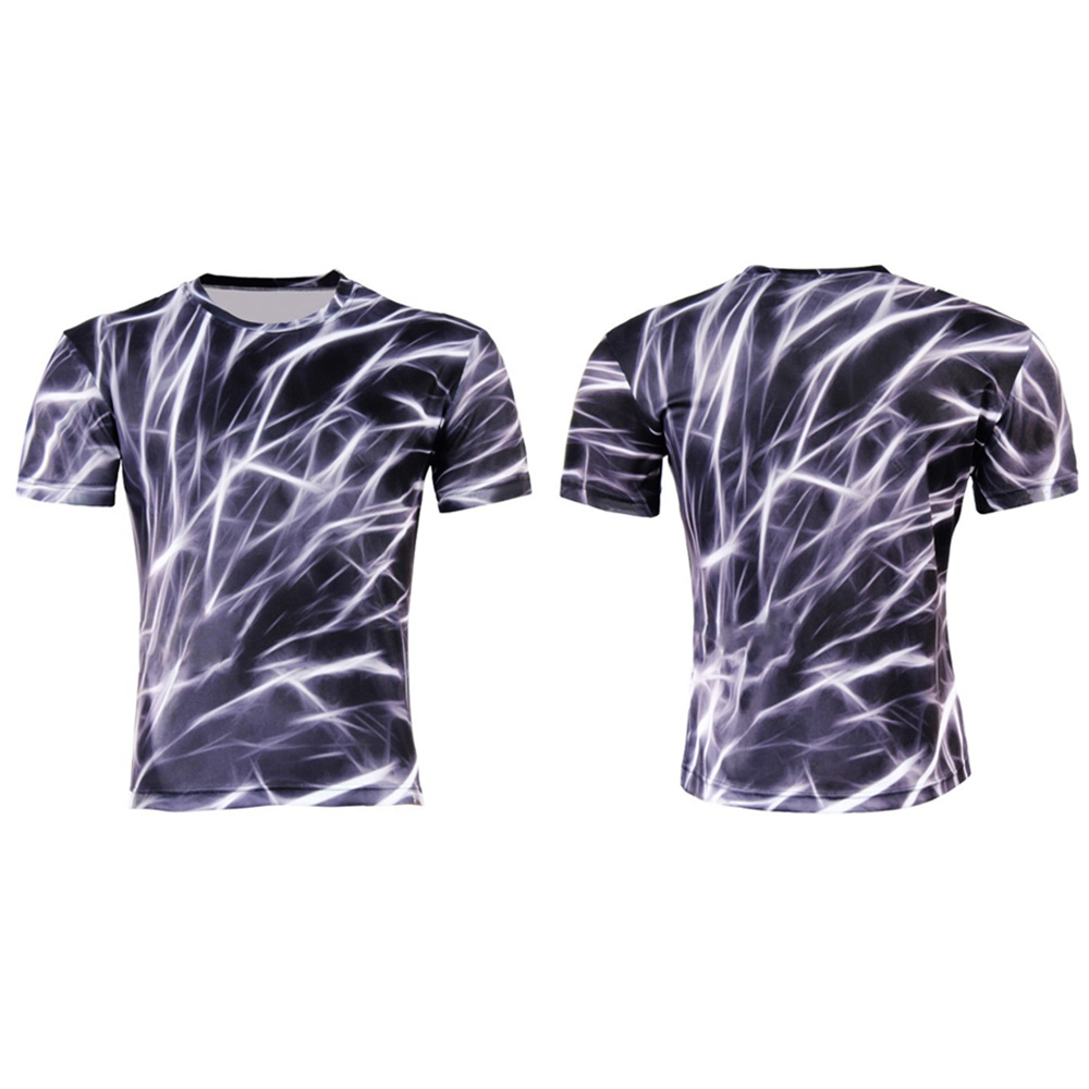 Short Sleeved Summer Fashion T Shirt 3d Printing Pattern