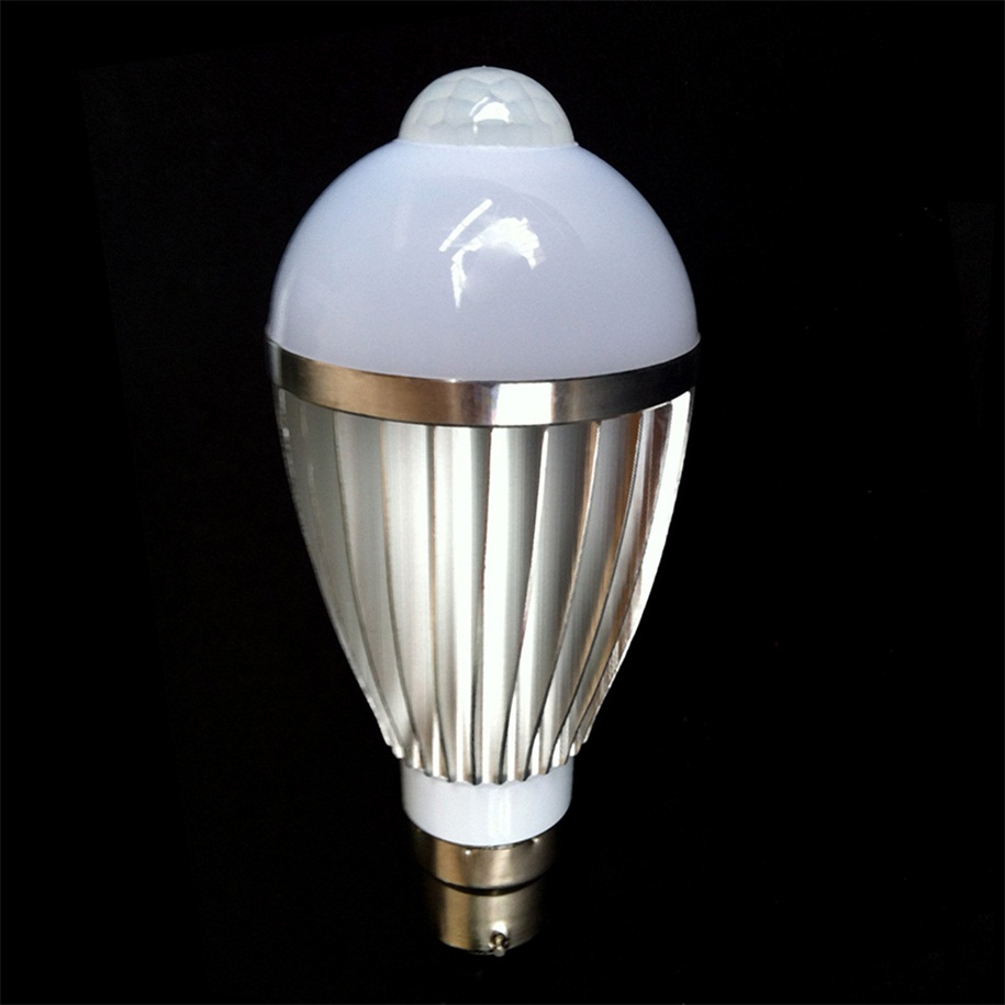 New Tredndy Bulb Silver Metal Shell Body Induction Lamp White Warm Light Oe