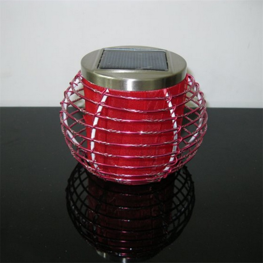 Garden LED Solar Lamp Aluminum Table Flameless Lantern Color Changing Light HG : eBay