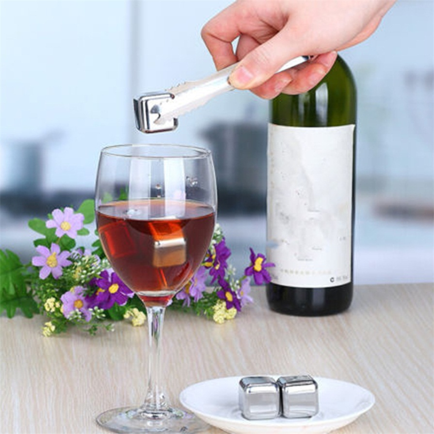 Reusable 304 Stainless Steel Whiskey Cooler Stones Ice ...