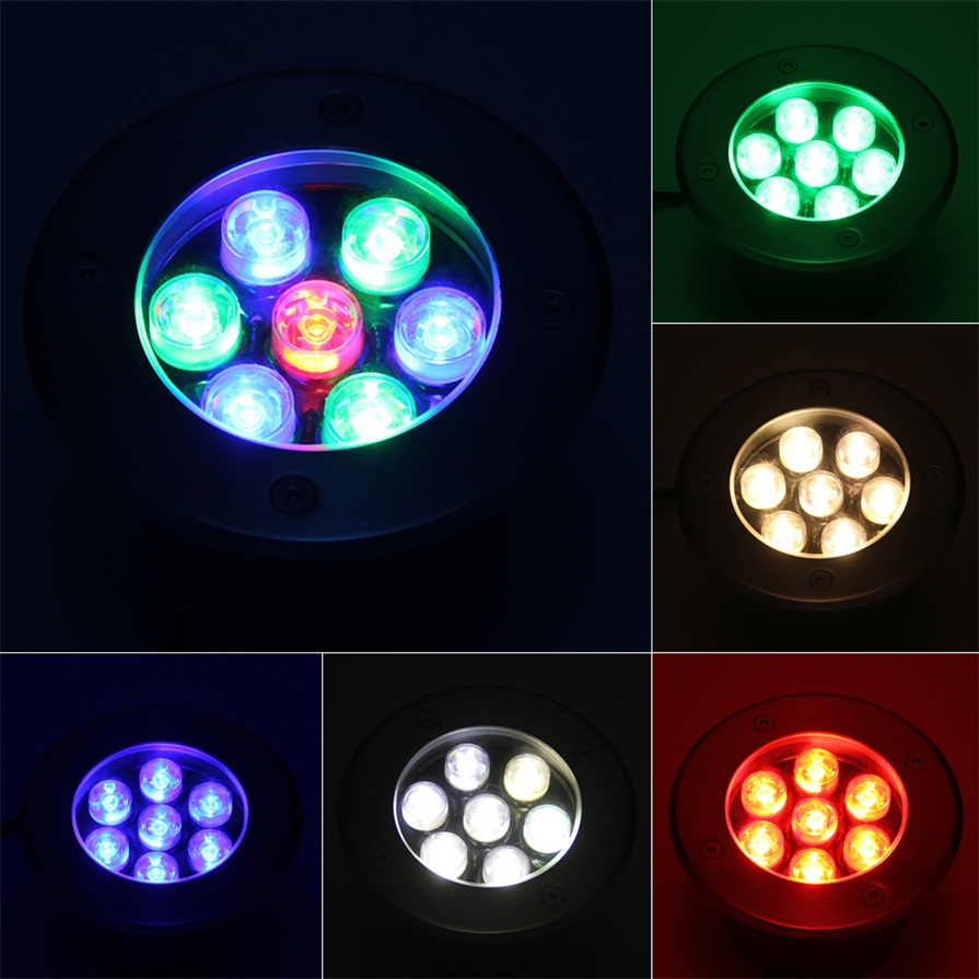 7w led waterproof outdoor in ground garden path flood for In ground landscape lighting