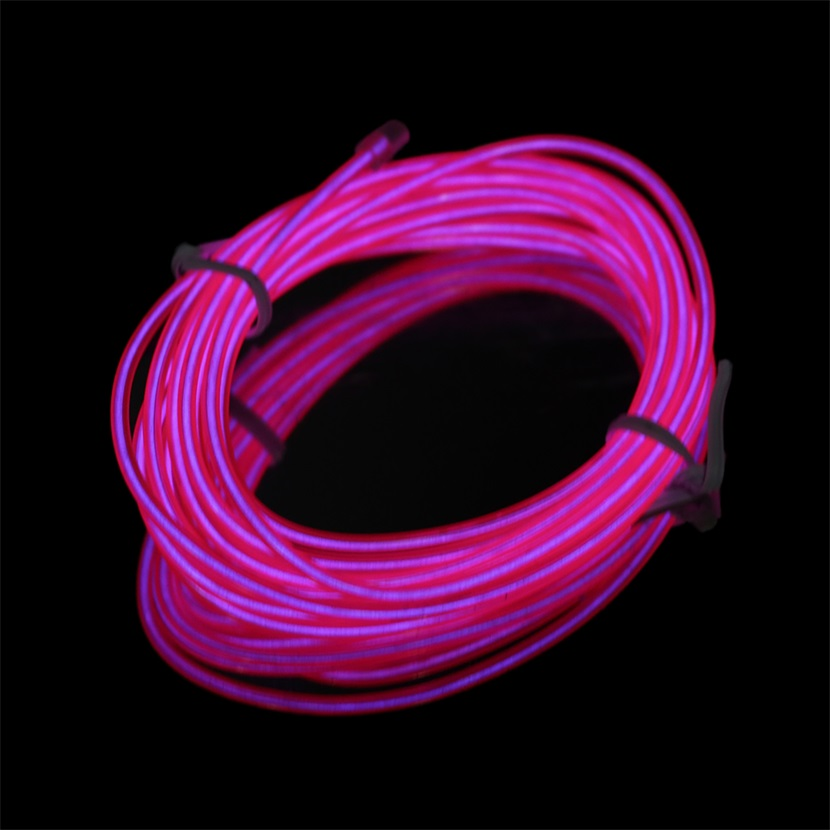 colorful 2m flexible el wire tube rope neon light dc 12v wiring neon lights in car wiring a neon light