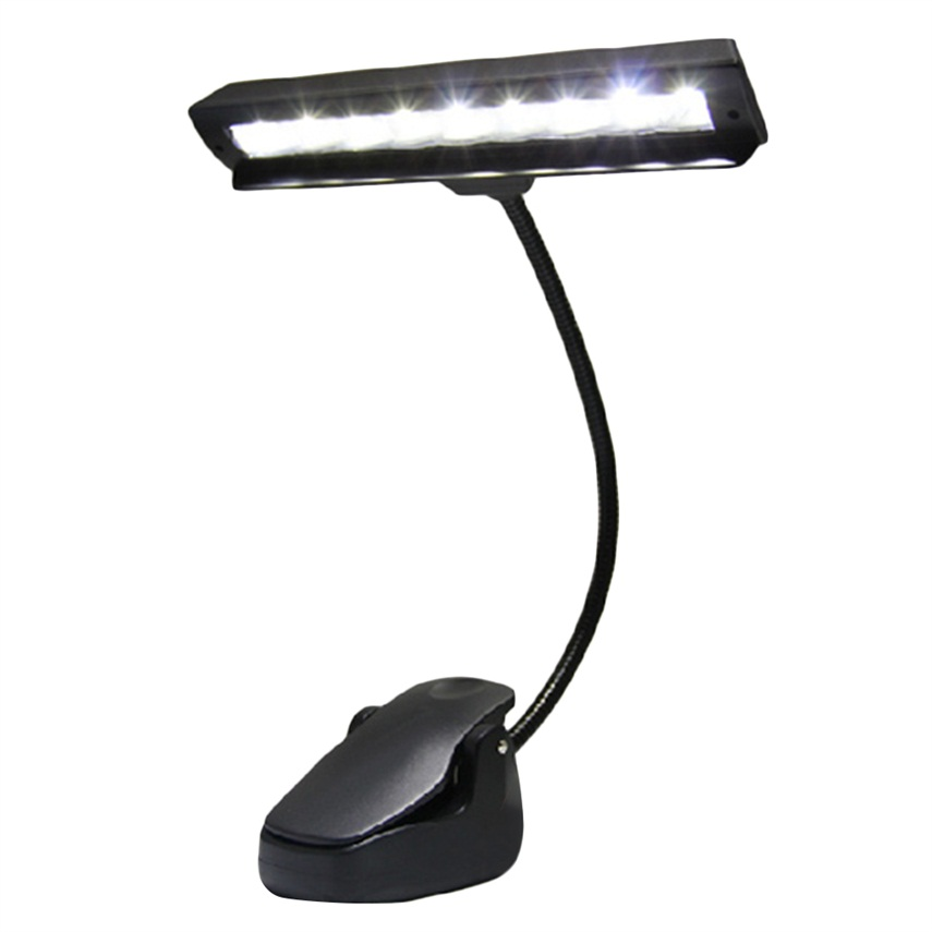new 9 leds clip on orchestra music stand flexible led w adapter lamp light he ebay. Black Bedroom Furniture Sets. Home Design Ideas