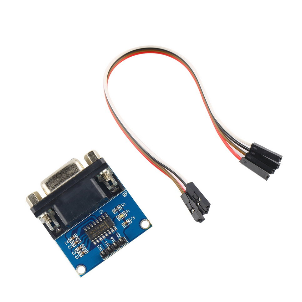 max3232 rs232 serial port to ttl converter module