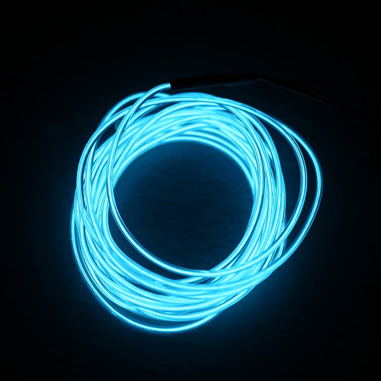 3M Colorful Flexible EL Wire Tube Rope Neon Light Glow Controller ...