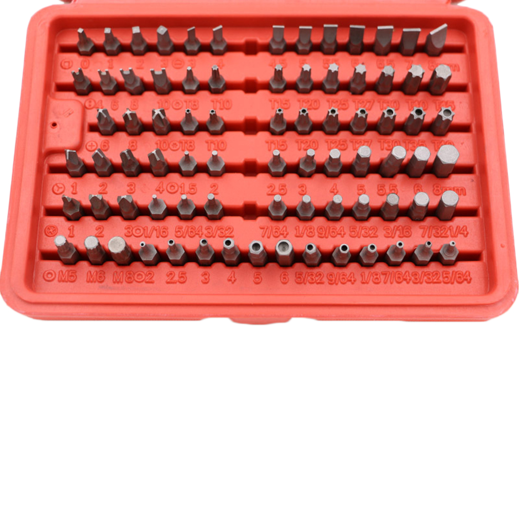 100 pc accessory piece drill set case 31639 screw bit kit awesome new vp. Black Bedroom Furniture Sets. Home Design Ideas