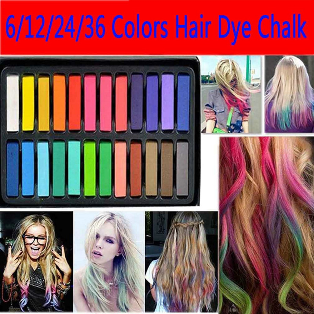 12/24/36 Colors Non-toxic Temporary Pastel Hair Square Hair Dye ...